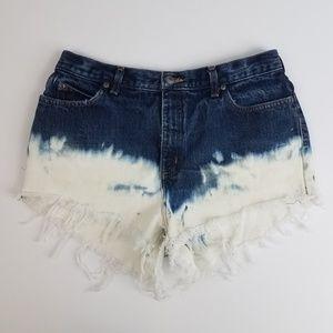 Bleached cut off jean shorts 14